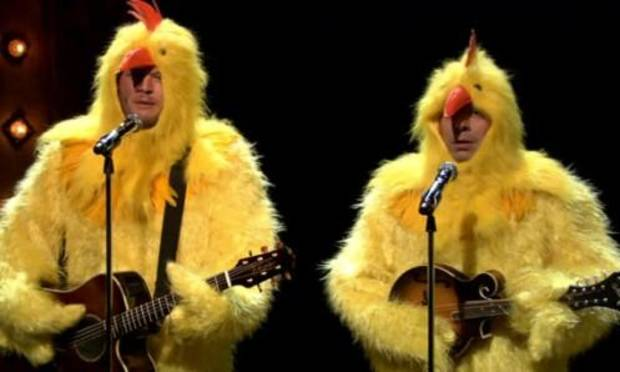Blake Shelton and Jimmy Fallon as The Chickeneers