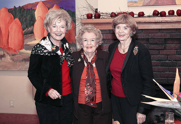 Patty Newman, Regina Murphy, Kay Goebel.  Photo by David Faytinger for the Oklahoman