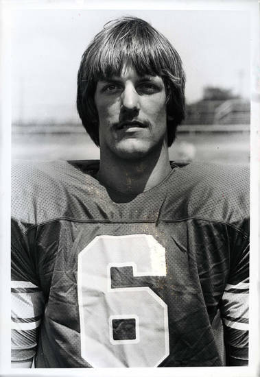 Scott Burger, quarterback for the UCO Broncos, 1979. <strong></strong>