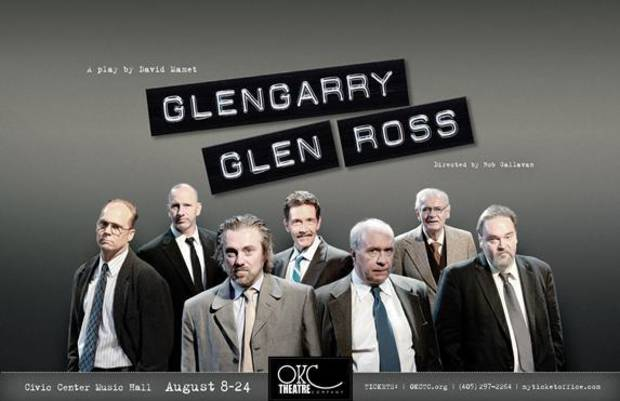 "From left, Craig Pruitt, Jason Burkhart, Richard Nelson, Ben Hall, Darryl Cox, Bob McGill and Mark Loftis star in Oklahoma City Theatre Company's ""Glengarry Glen Ross."" Photo provided"