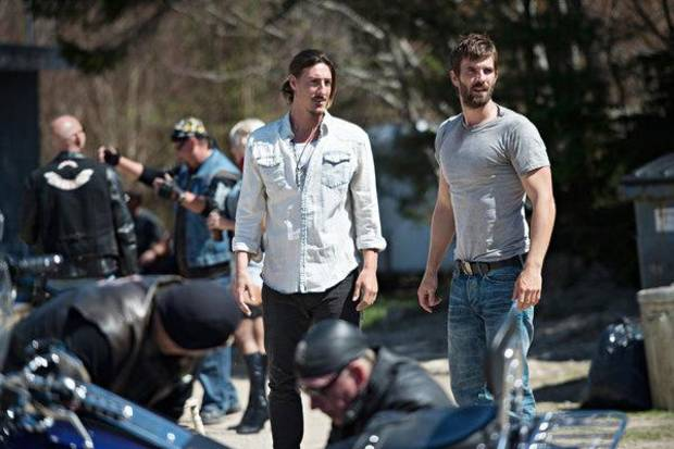 "HAVEN -- ""Fallout""  Episode 401 -- Pictured: (l-r) Eric Belfour as Duke Crocker, Lucas Bryant as Nathan Wuornos -- (Photo by: Michael Tompkins/Syfy)"