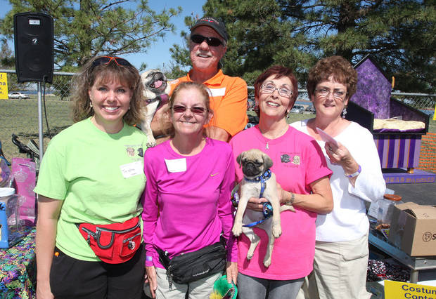 Trisha Clark, Rene and DAve Shanks, Gail Tucker and Niki Furrh also partipated in the Homeward Bound Pug Rescue and Adoption fundraiser.