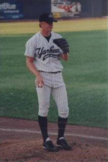 Brandon Weeden on the mound in a minor league baseball game. PHOTO PROVIDED