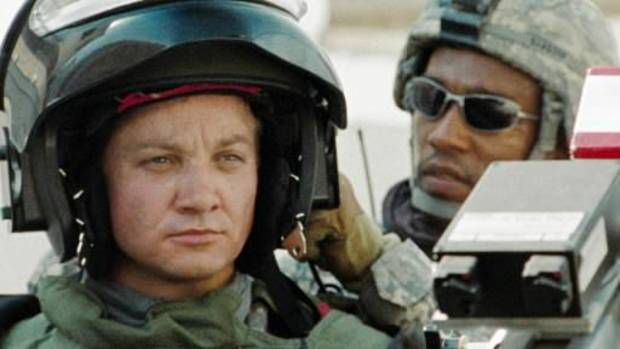 "Jeremy Renner, left, and Anthony Mackie are shown in a scene from the film ""The Hurt Locker."" (AP Photo)"