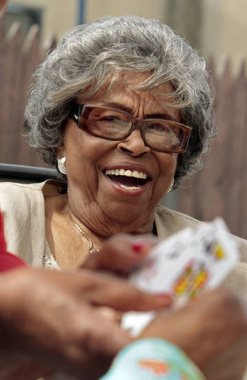 Thelma Burton, 91, volunteers at the Metropolitan Better Living Center on Wednesday, June 13, 2012 in Oklahoma City, Okla.  Burton won a Salute to Senior Service award this year for her volunteerism.  Photo by Steve Sisney, The Oklahoman