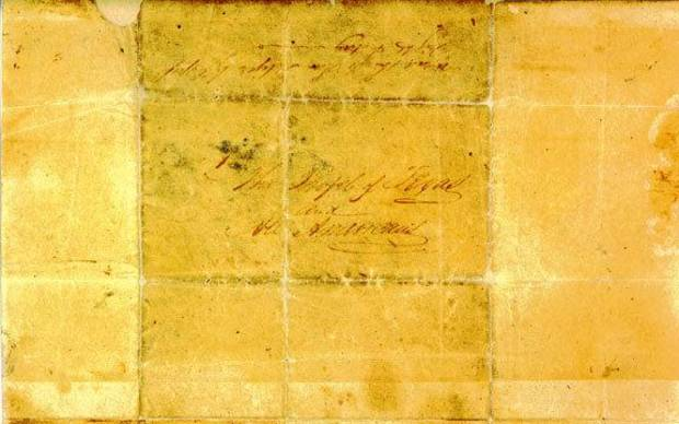 The Travis &quot;Victory or Death&quot; letter.   Photo from Texas State Library and Archives Commission web site. &lt;strong&gt;&lt;/strong&gt;
