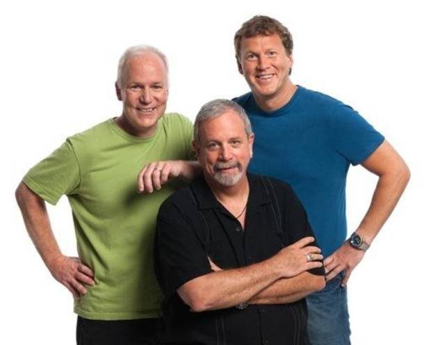 "Former ""Mystery Science Theater 3000"" stars, from left, Bill Corbett, Kevin Murphy and Michael J. Nelson continue their movie-mocking ways with Rifftrax."