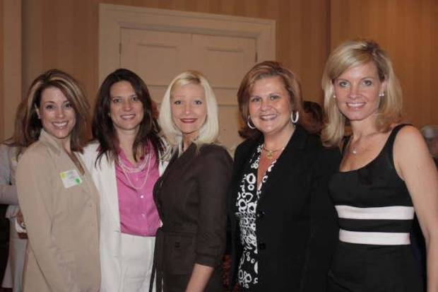 AWARD LUNCHEON....Christi Coyle, Jill Greene, Whitney Tero, Karla Wallace and Laura Ogle were at the luncheon. (Photo by Vonne Hanke.)