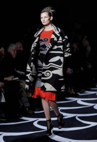 An outfit from the fall 2012 runway show by Diane von Furstenberg. AP PHOTO