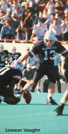 Kicker Lawson Vaughn in the 1995 Oklahoma State football media guide.