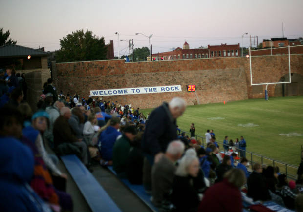 Guthrie's Jelsma Stadium is the best Oklahoma City-area football stadium. PHOTO BY JOHN CLANTON, THE OKLAHOMAN