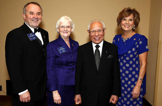 Ron and Jetta Burton, Rotary International President Sakuji Tanaka of Japan, Marion Paden.