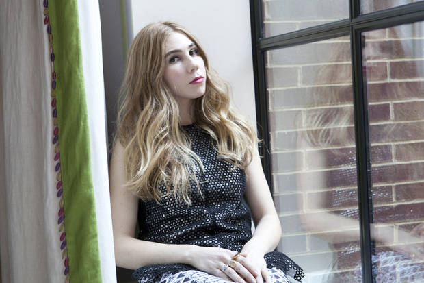 "This Jan. 8, 2013 photo shows American actress Zosia Mamet posing for a portrait to promote the second season of the HBO Comedy Series ""Girls"", in New York. (Photo by Amy Sussman/Invision/AP) ORG XMIT: NYET437"