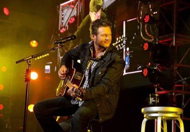 Blake Shelton performs during the event.