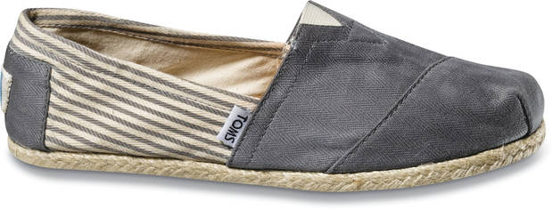 TOMS Shoes. The style is based on an old Argentine shoe. They come in several different colors and patterns.