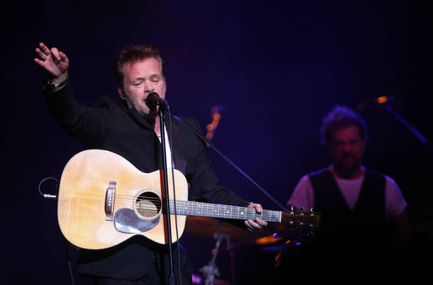 John Mellencamp during the Woody Guthrie Centennial Concert at the Brady Theater Saturday March 10, 2012. (AP Photo/Christopher Smith, Tulsa World) ORG XMIT: OKTUL107