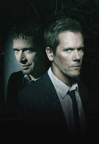 "From left, James Purefoy and Kevin Bacon star in ""The Following."" - Fox Photo"