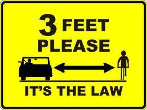 This is a picture of the bumper stickers that are being put on Edmond police cars to remind people about the city's amended bicycle ordinance. Similar signs will be installed throughout the city. IMAGE PROVIDED BY EDMOND POLICE DEPARTMENT <strong>EDMOND POLICE DEPARTMENT - PHOTO PROVIDED</strong>