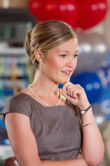 "Julia Stiles stars in ""The Makeover."""