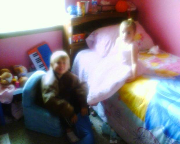 little princess in her room... with cousin Kash.. this is Alysia 4 year old  neice<br/><b>Community Photo By:</b> Aunt Tama<br/><b>Submitted By:</b> Tama, Midwest