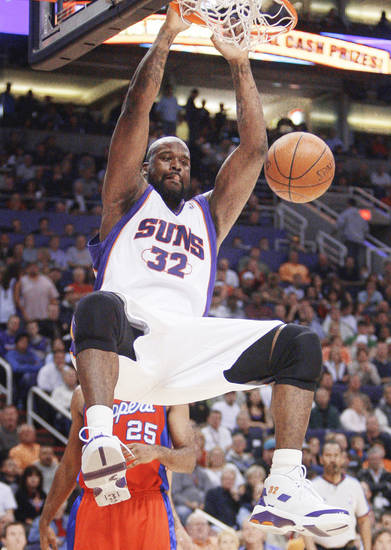 Rumors were that Shaquille O'Neal was going to be traded, but he stayed put.  AP Photo