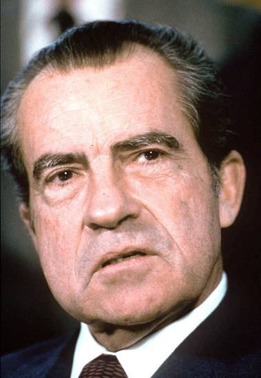 Former President Richard Nixon is shown in this 1973 photo.  AP Photo