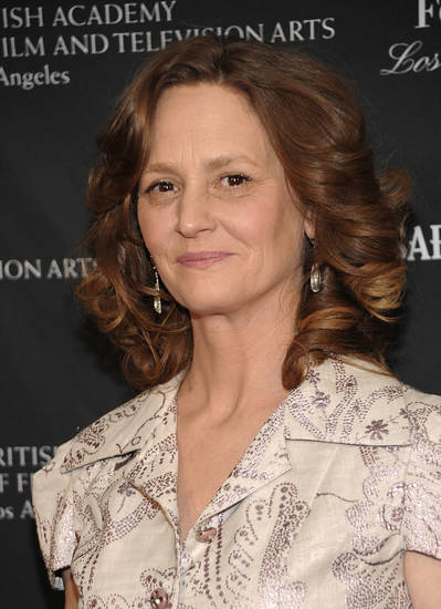 Actress Melissa Leo arrives at the 2011 British Academy of Film and Television Arts Tea Party in Los Angeles on Saturday, Jan. 15, 2011. (AP Photo/Dan Steinberg) ORG XMIT: CADS110
