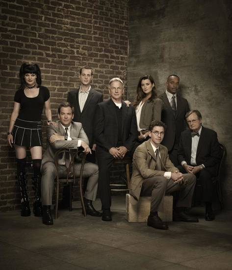 The Cast of the hit CBS Drama NCIS from left to right: Pauley Perrette, Michael Weatherly, Sean Murray, Mark Harmon, Cote de Pablo, Brian Dietzen, Rocky Carroll and David McCallum. Season 8 Photo: Brian Bowen Smith/CBS  ©2010 CBS Broadcasting Inc. All Rights Reserved