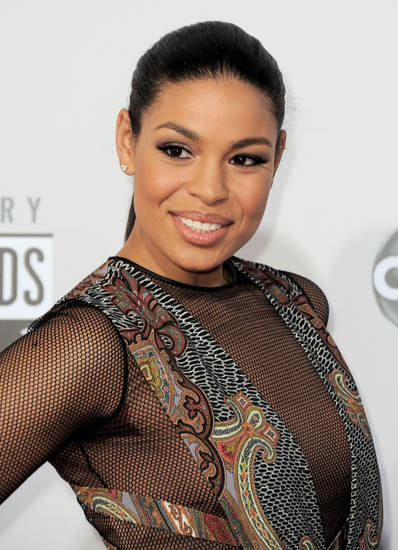 Jordin Sparks arrives at the 40th Anniversary American Music Awards on Sunday, Nov. 18, 2012, in Los Angeles. (Photo by Jordan Strauss/Invision/AP)