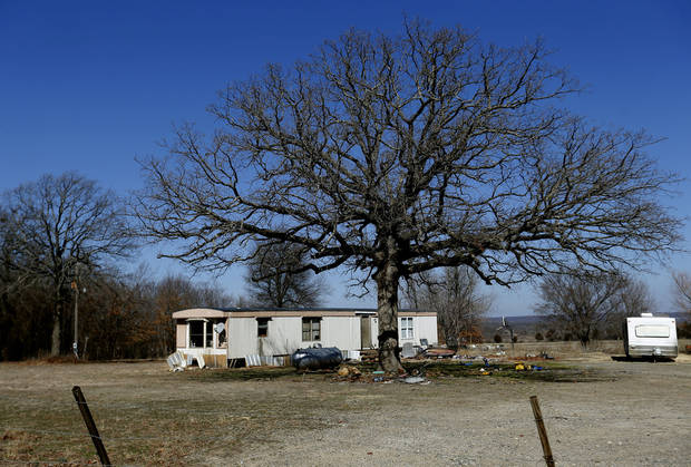 Property is pictured near the Ryal Public School, Wednesday, Feb. 13, 2013. Photo by Sarah Phipps, The Oklahoman