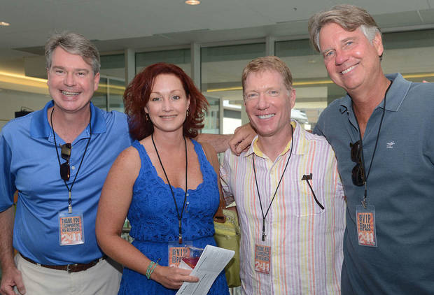 Blake Hogan, Sherri Waters, Bill Lance, Randy Hogan. Photo by David Faytinger, for The Oklahoman