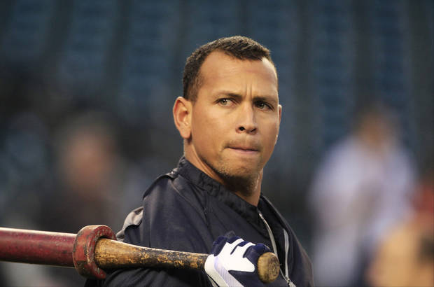 In this Wednesday, Oct. 17, 2012 photo, New York Yankees' Alex Rodriguez takes batting practice before Game 4 of the American League championship series against the Detroit Tigers, in Detroit. The New York Yankees said Monday, Dec. 3, 2012, Rodriguez will have surgery on his left hip and will miss the start of the season and possibly the entire first half. (AP Photo/Carlos Osorio) ORG XMIT: NY115
