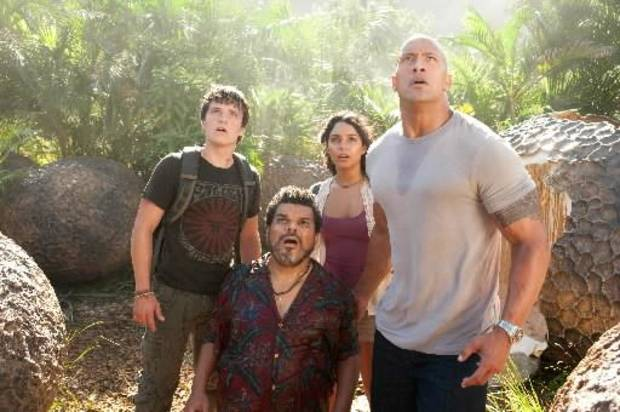Josh Hutcherson, Luis Guzman, Vanessa Hudgens, Dwayne Johnson.