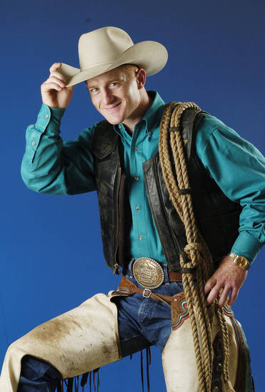OKLAHOMA CITY, OK.  THURSDAY, 4.21.2005.  Rodeo cowboy Cord McCoy.     Staff photo by Jim Beckel.