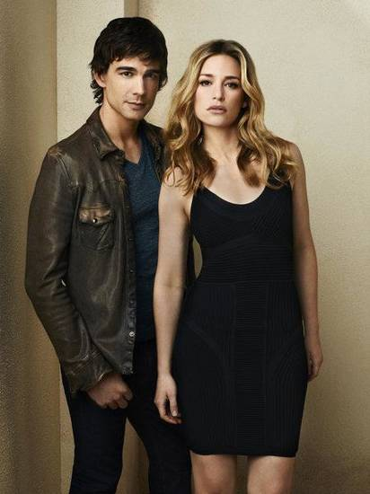 """""""Covert Affairs"""": Christopher Gorham as Auggie Anderson and Piper Perabo as Annie Walker - Photo by: Andrew Eccles/USA Network"""