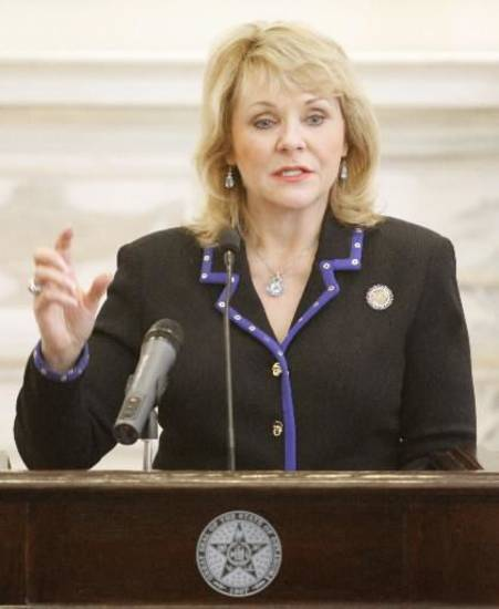 Governor Mary Fallin at the state Capitol in Oklahoma City, Tuesday March 13, 2013. Photo By Steve Gooch