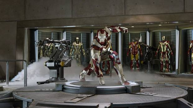 Robert Downey Jr. reprises his superheroic role in &quot;Iron Man 3.&quot; Walt Disney Pictures photo &lt;strong&gt;&lt;/strong&gt;