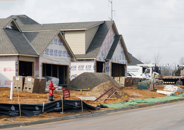 Two streets of new homes are being built in the Hampden Hallow neighborhood.
