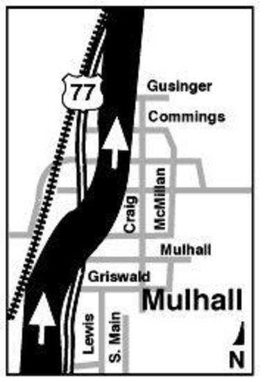 MAY 3, 1999 TORNADO: Tornado's Path: Mulhall map