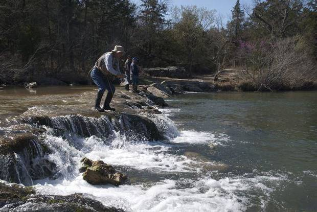 Bigger bows in the blue news ok for Trout fishing oklahoma