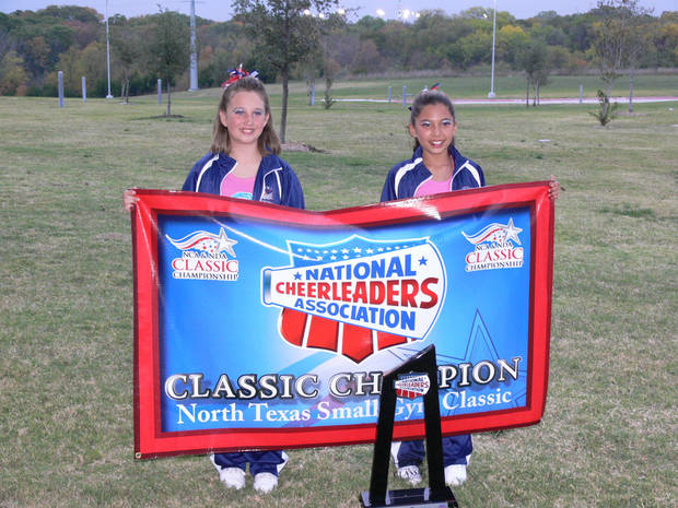 Kaitlin and Taylor at NCA cheer championship,  Garland,Texas 11/5/2006<br/><b>Community Photo By:</b> Jeff G<br/><b>Submitted By:</b> Jeff, Midwest city