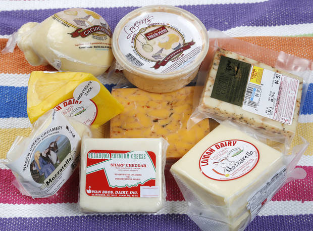 Oklahoma cheeses for Sherrel Jones&#039; Oklahoma Table column, Friday, January 4, 2013. Photo by Doug Hoke, The Oklahoman
