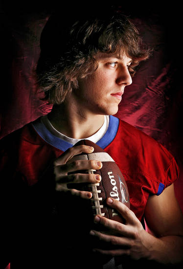 Oklahoma Christian School's Josh Merrill All Little City Wide Receiver. 