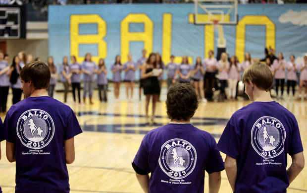 Students attend the BALTO report assembly at Edmond North High School on Friday. Photo By David McDaniel/The Oklahoman <strong>David McDaniel - The Oklahoman</strong>