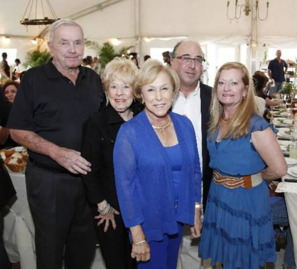 John and Paula Shawver, Betsy Braver, Rob and Karen Braver were at the party. (Photo by Doug Hoke).