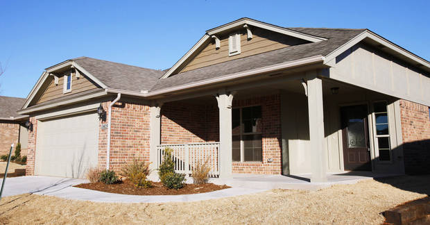 Ideal Homes built this home at 11429 NW 131 at Village Verde in northwest Oklahoma City.