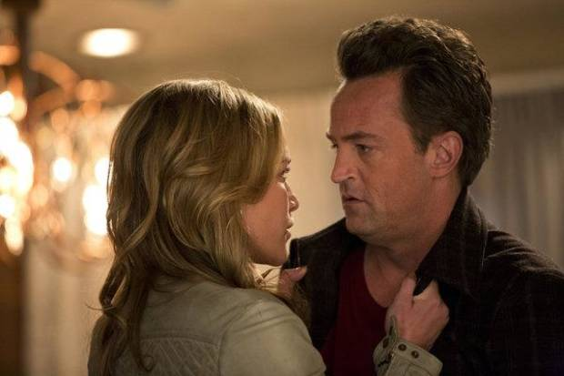 "GO ON -- ""Pass Interference"" Episode 115 -- Pictured: Piper Perabo as Simone, Matthew Perry as Ryan King -- (Photo by: Justin Lubin/NBC)"