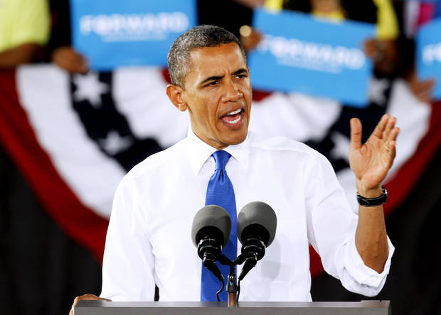 President Barack Obama speaks during a rally last week in Virginia Beach, Va. AP Photo