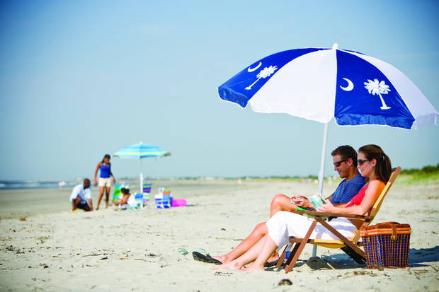 This Charleston Area Convention & Visitors Bureau photo shows a beach in Kiawah Island, S.C. Neaby Beachwalker Park on Kiawah Island is on the Top 10 list. (AP PHOTO)