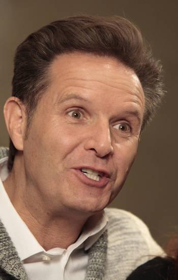 "Mark Burnett  talks about his new TV series on the History Channel called ""The Bible"" during a visit to LIfeChurch.tv.  Photo By David McDaniel, The Oklahoman <strong>David McDaniel - The Oklahoman</strong>"